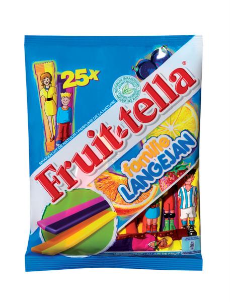 Kleurrijke fruittella familie in vrolijk jasje + WIN
