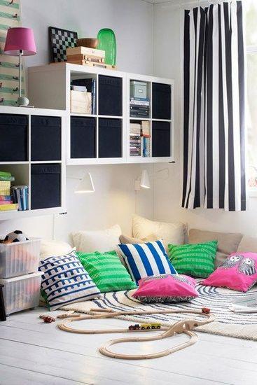 Kinderkamer inspiratie 10 x leuke opbergidee n mama glossy for Kids play area in living room ideas